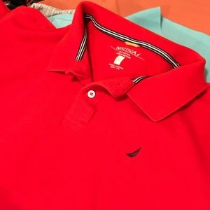 Red Nautica XXL Cotton Polo